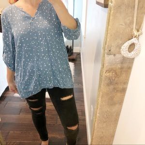 Philosophy large chambray star print Long sleeve